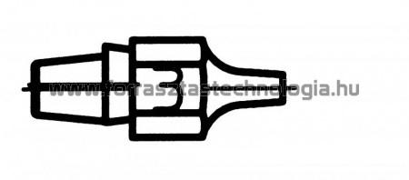 DX-113 Meleglevegős kiforrasztóhegy Weller