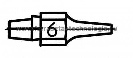 DX-116 Meleglevegős kiforrasztóhegy Weller