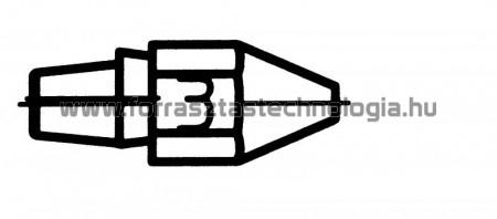 DX-113 HM Meleglevegős kiforrasztóhegy Weller
