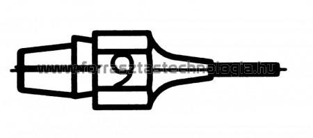 DX-119 Meleglevegős kiforrasztóhegy Weller