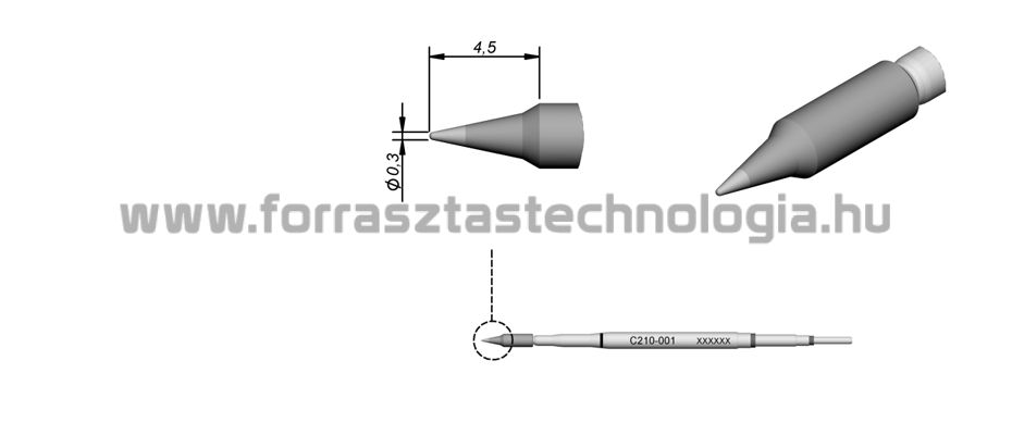C210-001 Pákahegy JBC 0,3 mm