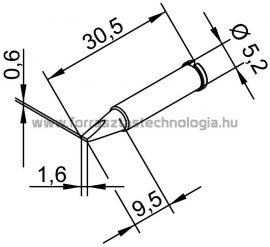 102CDLF-16 Pákahegy Ersa 1,6 x 0,6 mm