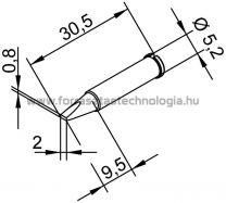 102CDLF-20 Pákahegy Ersa 2,0 x 0,8 mm
