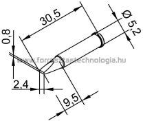 102CDLF-24 Pákahegy Ersa 2,4 x 0,8 mm