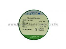 Forrasztó ón ólommentes SACX0307 0,75 mm / 500 g