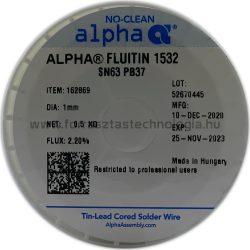 Forrasztóón ólmos ALPHA Sn63Pb37 Fluitin 1532 1,0mm