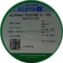 Forrasztóón ólommentes  ALPHA SACX0307 TELECORE XL-825/122 0,75mm
