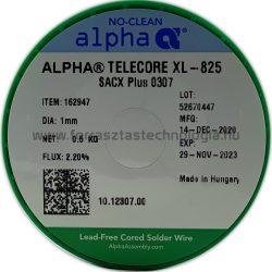 Forrasztóón ólommentes ALPHA SACX0307 TELECORE XL-825/122 1,0mm