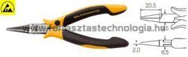 Z 37 0 04 Műszerész kerekcsőrű fogó ESD Wiha