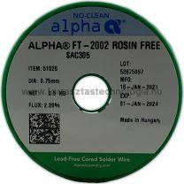 Forrasztóón ólommentes ALPHA SAC305 0,75mm FT-2002 ROSIN FREE/122