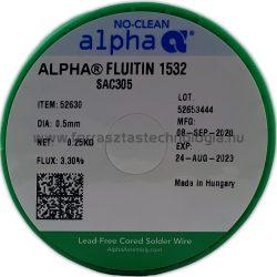 Forrasztóón ólommentes ALPHA Fluitin 1532 SAC305 0.5mm