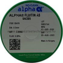 Forrasztóón ólommentes ALPHA SAC305 FLUITIN AS/133 0.5MM