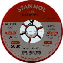 Forrasztó ón ólomtartalmú S-Sn60Pb40 1,0mm 0,5kg