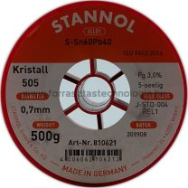 Forrasztó ón ólomtartalmú S-Sn60Pb40 0,7mm 0,5kg