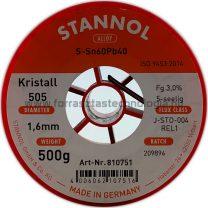 Stannol S-Sn60Pb40 Kristall 505 1.6mm 0.5kg