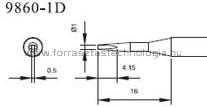 9860-1D Pákahegy pár Quick 1,0 x 0,5 mm