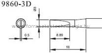9860-3D Pákahegy pár Quick 3,0 x 0,5 mm